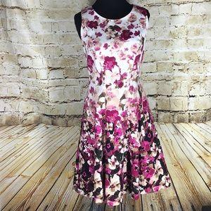 WHBM floral a-line dress w/ Pockets! Size 10
